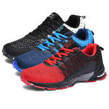 Men's Sneakers Running Sport Shoes Lace Up Athletic Walking Outdoor Casual Shoes