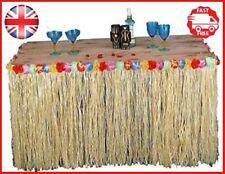 1m Hawaiian Table Skirt Grass Tropical Tiki Bar Garden Beach Summer Party Decor
