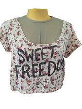 American Eagle Outfitters Wide Scoop Crop Top Sweet Freedom Floral Medium