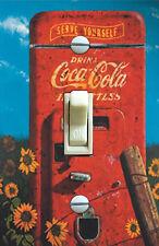 Vintage Coke Machine&Daisy Poster Decorative Single Switch Plate *FREE SHIPPING*