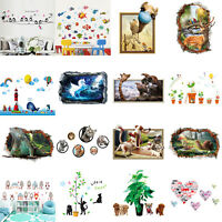 Animals Removable Wall Stickers Double Sided Living Room Home Mural Decor Art