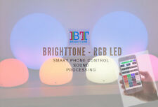 """RGB LED Lamp WiFi iPhone Android control 6"""" Sound Light Music Inductive charging"""