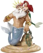 """WDCC The Little Mermaid King Triton & Ariel """"Morning, Daddy!"""" New in Box gay int"""