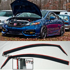 For 12-15 Honda Civic Coupe In-Channel Rain Guard Shield Vent Side Window Visors