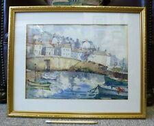 British Watercolour Painting Cornish listed artist George F. Pennington Portugal