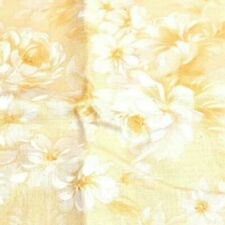 Yellow Rose Floral Fabric - 3 Yards - Cotton - Quilting - Floral - Crafts