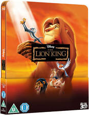 The Lion King 3D+2D Blu-ray Steelbook Lenticular Magnet Region Free New.
