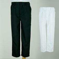 BNWT Boys Long Formal Pants Trousers Polyester Sz 0000 - 22 Black White