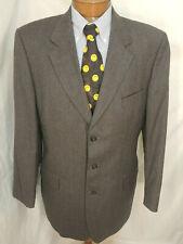 44 L Mens Savile Row Alexandre London Blazer Jacket Coat Gray 3 Btn Wool
