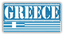 "Greece Grunge Travel Stamp Car Bumper Sticker Decal 6"" x 3"""