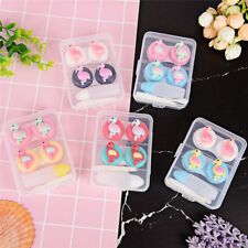 2pc/set Cartoon portable plastic contact lens case contact lenses box containe I