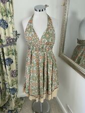 Odd Molly Size 2 uk 10 cotton patterned quirky halted summer dress party VGC