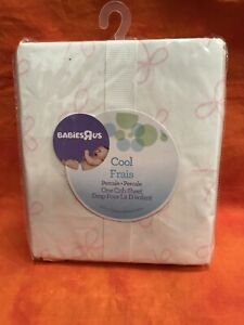 """BabiesRUs Fitted Crib Sheet; Cool Pink; 28"""" x 52""""; Cotton; New In Package"""