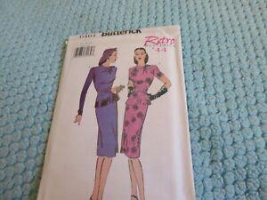 vintage reproduction pattern woman's dress - 1944, 12-16
