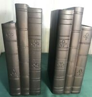 "Collectible  Iron Bookends Door Stop  Heavy 8.5"" H x 3"" W x 5.25' D 5.5 lb Each"