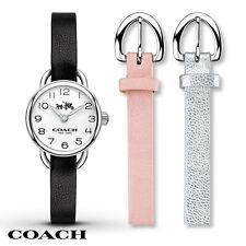 NWT COACH WOMEN'S STAINLESS STEEL ROUND DREE 3-IN-1 WATCH SET 14502363