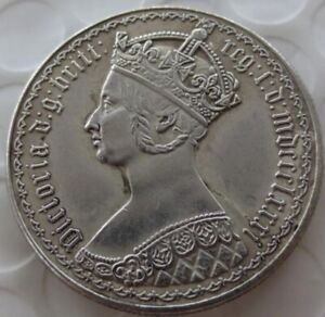 Queen Victoria/Four Crowned Cruciform Shields 1881 Two Shilling Gothic Script#1