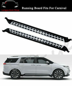 2PCS Running Board Fits for KIA Carnival 2021 2022 Fixed Door Side Step Nerf Bar