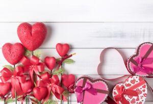7x5FT Valentine'S Romantic Love Vinyl Backdrop Photo Prop Background