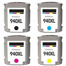 Printenviro 4x HP 940XL (1B1Y1M1C) Remanufactured  Ink Cartridges w/Chip for HP