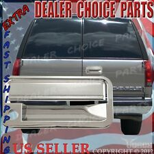 1999-2000 Cadillac Escalade Chrome Tailgate Cover With Keyhole Overlay trim cap