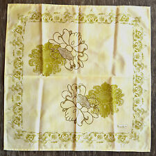 Beauville France Orfeo Green Cotton Floral Napkins, Set of 4