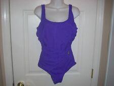 Ladies Size 10 Purple MIRACLESUIT SWIMSUIT Bathing Suit Classy Style Design