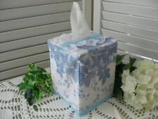 NEW Romantic Boutique TISSUE BOX COVER made with LAURA ASHLEY SOPHIA Blue Roses