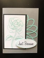 "Card Kit Set Of 4 Stampin Up Graceful Garden Coastal Cabana ""Just Because"""