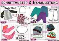 Sparset 6***pdf.Schnittmuster und Nähanleitung Baby Paket Gr.:50-92