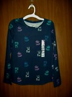 NEW GIRL'S SO KOHL'S PUPPY DOGS LONG SLEEVE T-SHIRT SZ 12 CUTEST TEE BLUE