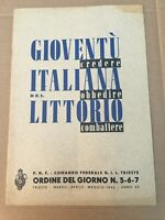 RIVISTA G.I.L. P.N.F. TRIESTE COM.FEDERALE 1942 FASCIO FASCISMO OLD MAGAZINE