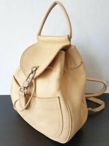 DELVAUX Cerceau Beige Leather Backpack - Authentic - Vintage
