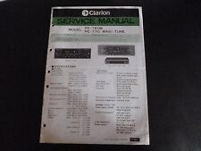 Original service manual CLARION pe-760b pe770 Magi-tune
