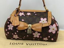 Auth Louis Vuitton Monogram Cherry Blossom Sac Retro PM M92012 7E120300m*