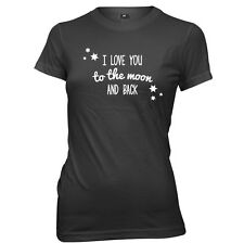 I Love You To The Moon And Back Womens Ladies T-Shirt
