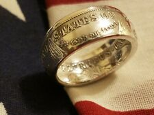 Coin Ring hand made from Morgan Silver Dollar Sizes 6-13