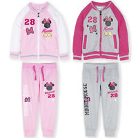 Disney Minnie Mouse Baseball Jumper Sweatshirt Joggers Tracksuit Bottoms 2-8 Yrs