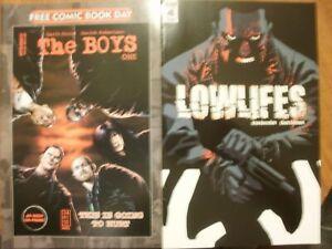 2 Comics: THE BOYS ONE Free Comic Book Day FCBD (Dynamite) + LOWLIFES #4 (IDW)