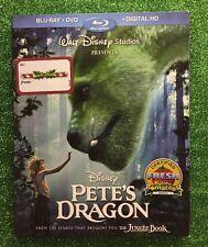 Pete's Dragon (Blu-ray/DVD/Digital HD, 2016; 2-Discs) NEW w/ Slipcover; Disney