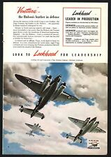 1941 WWII LOCKHEED Vega Ventura Bomber WW II WW2 Aircraft Aviation Plane AD