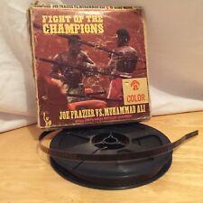 Fight Of The Champions Joe Frazier vs Muhammad Ali 8mm Home Color Movie