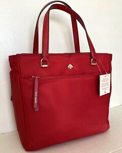 New Kate Spade New York Jae Medium Satchel Nylon handbag Favorite Red