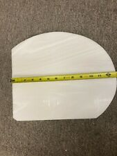 "6 Pieces 1/2"" White Onyx Corian (note shape in photos)"