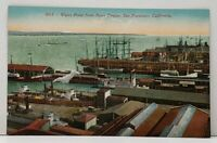 San Francisco California Water Front from Ferry Tower c1910 Postcard G9