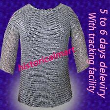 Chainmail 9 mm round riveted hubergion half sleeve Shirt medium size shirt