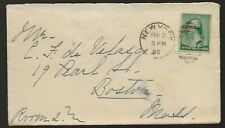 1890 New York City Cover to Boston Mass