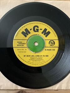 1960 CONNIE FRANCIS - MY HEART HAS A MIND OF ITS OWN / MALAGUERA - MGM records