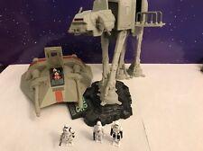 Micro Machines Star Wars Action Fleet Walker AT-AT & Snowspeeder V1