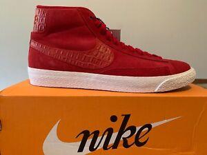*BRAND NEW W/BOX* Nike BLAZER MID PRM VNTG MENS 10.5 Gym RED SUEDE
